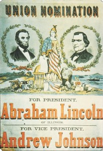 Union Nomination Poster 1864 Abraham Lincoln Andrew Johnson