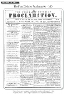 The First Division Proclamation